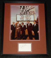 Joey Bishop Signed Framed 16x20 Photo Poster Display JSA w/ Rat Pack Sands C
