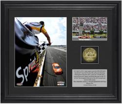 "Joey Logano 2012 Pocono 400 Race Winner Framed 6"" x 5"" Photo with Plate & Gold Coin - Limited Edition of 320 - Mounted Memories"