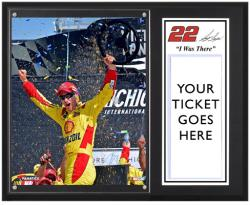 Joey Logano 2013 Pure Michigan 400 Sublimated 12'' x 15'' I Was There Plaque - Mounted Memories