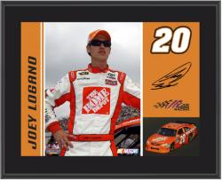 "2011 Joey Logano Sublimated 10"" x 13"" Color Plaque - Mounted Memories"