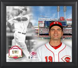 """Joey Votto Cincinnati Reds Framed 15"""" x 17"""" Mosaic Collage with Game-Used Baseball-Limited Edition of 99"""
