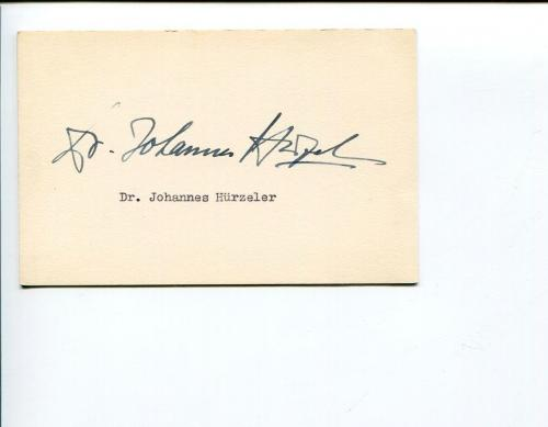 Johannes Hurzeler Famous Swiss Paleontolist Anthropologist Signed Autograph