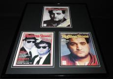 John Belushi 16x20 Framed Rolling Stone Cover Display SNL Blues Brothers