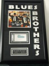 John Belushi Dan Aykroyd Signed Blues Brothers Framed Piece Psa/dna Rare