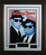 John Belushi unsigned Engraved Signature Series Collection 26x32 Custom Leather Framed Blues Brothers (entertainment/photo)
