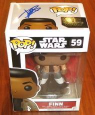 John Boyega Signed Funko Pop Bobble-Head Figure Finn Star Wars Ep. 7 Exact Proof