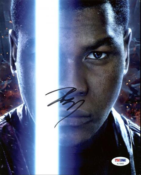 John Boyega Star Wars The Force Awakens Signed 8X10 Photo PSA #AC18456