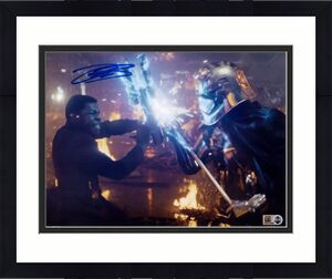"John Boyega Star Wars The Last Jedi Autographed 8"" x 10"" as Finn Photograph - Topps Authentic"