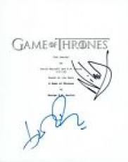 John Bradley & Nikolaj Coster Waldau Signed Game of Thrones S4 E1 Script COA VD