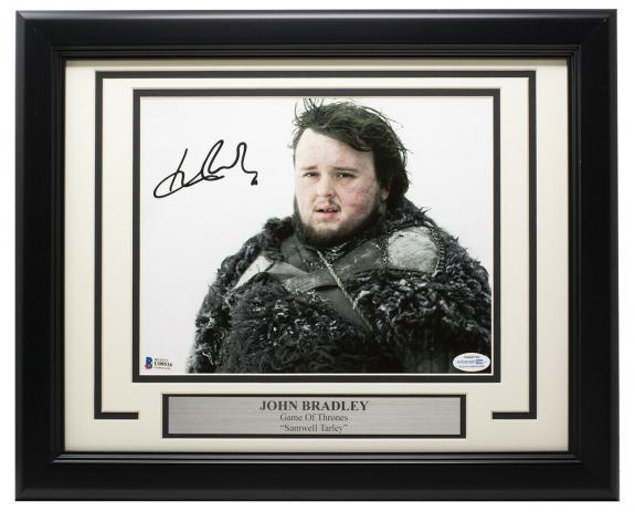 John Bradley Signed Framed 8x10 Game of Thrones Photo BAS