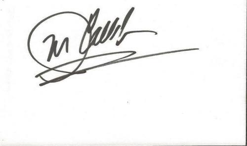 John Callahan Signed 3x5 Index Card All My Children B