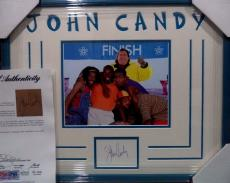 "John Candy ""cool Runnings"" Deceased Signed Double Matted & Framed Psa/dna Loa A"