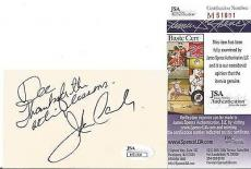 John Candy Movie/comedy Legend Signed Autographed 3x5 Index Card Jsa Coa Rare