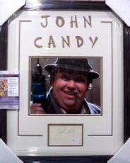 """John Candy """"uncle Buck"""" Deceased Signed Double Matted & Framed Rare Jsa Coa B"""