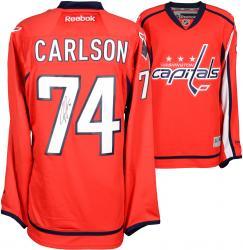 John Carlson Washington Capitals Autographed Red Reebok Premier Jersey