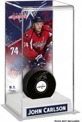 John Carlson Washington Capitals Deluxe Tall Hockey Puck Case