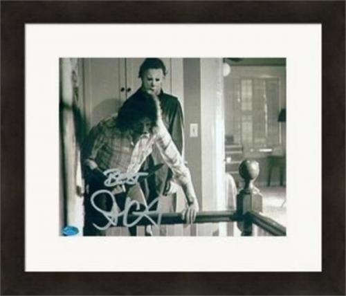 John Carpenter autographed 8x10 Photo (Halloween Jason Voorhees)  #SC4 Silver Matted & Framed
