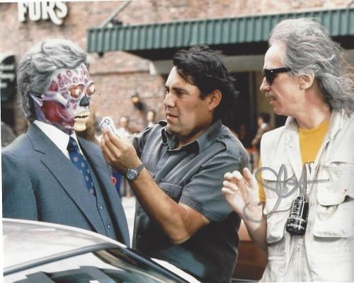 """JOHN CARPENTER - FILM DIRECTOR/SCREENWRITER/PRODUCER - His Work Includes """"HALLOWEEN"""", """"ESCAPE FROM NEW YORK"""", and """"STARMAN"""" Signed 10x8 Color Photo"""
