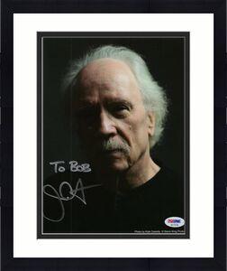 JOHN CARPENTER HAND SIGNED 8x10 COLOR PHOTO   HALLOWEEN DIRECTOR    TO BOB   JSA