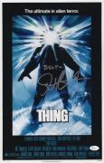 John Carpenter Signed The Thing 11x17 Movie Poster Jsa Coa N37853