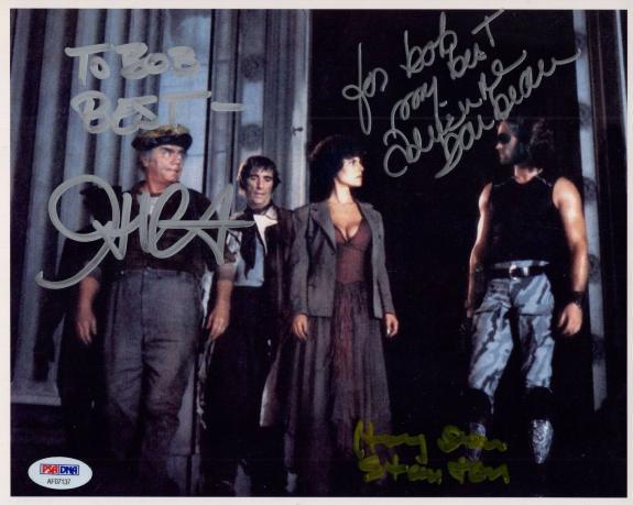 JOHN CARPENTER+STANTON+ADRIENNE BARBEAU SIGNED 8x10 PHOTO    TO BOB   JSA LETTER