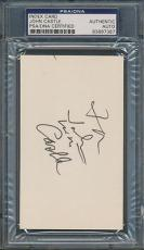 John Castle Index Card PSA/DNA Certified Authentic Auto Autograph Signed *7387