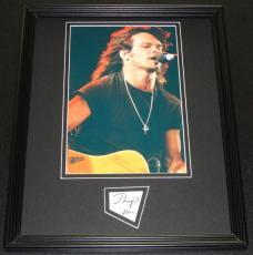 John Cougar Mellencamp 2001 Signed Framed 11x14 Photo Display