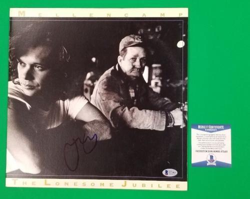 "John Cougar Mellencamp Signed ""lonesome Jubilee"" Lp Album Certified With Bas Coa"