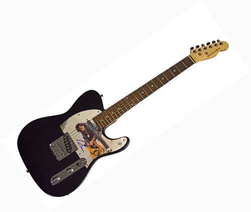 John Cougar Mellencamp Signed Tele Album Cover Guitar AFTAL UACC RD COA