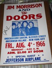 John Densmore signed 1966 Replica Concert Poster, The Doors, Proof, COA