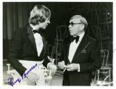 John Denver George Burns Jsa Hand Signed Photo 7x9 Oh God Authentic Autograph