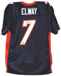 John Elway Signed Jersey - BLUE WILSON