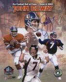 """Denver Broncos John Elway Autographed Hall of Fame 16"""" x 20"""" Collage"""