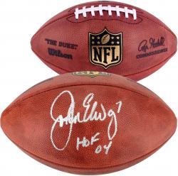 John Elway Denver Broncos Autographed Pro Football with HOF 2004 Inscription