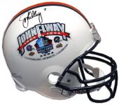 Denver Broncos John Elway Autographed Hall of Fame Mini Helmet - Mounted Memories