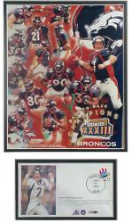 John Elway Back-To-Back Super Bowl Championships Event Cover - Mounted Memories