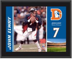 Denver Broncos John Elway 10.5'' x 13'' Sublimated Plaque - Mounted Memories