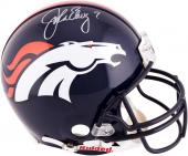 Signed John Elway Proline Helmet - Mounted Memories
