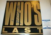 JOHN ENTWHISTLE Signed WHO'S LAST LP Cover w/ Beckett COA