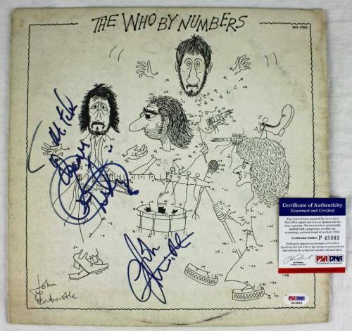 John Entwistle Roger Daltrey The Who Signed Album Cover W/ Vinyl PSA/DNA #P43563