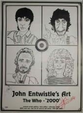 John Entwistle The Who Art Autographed Signed Poster Certified PSA/DNA COA