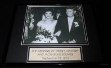 John F Kennedy Jacqueline Bouvier 1953 Wedding Framed 11x14 Photo Display JFK