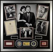 "John F. Kennedy & Jacqueline Kennedy Onassis Framed Autographed 44"" x 45"" x 2"" Collage - PSA/DNA"