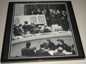 John F Kennedy JFK 1962 United Nations Framed 11x14 Photo Poster Display