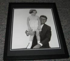 John F Kennedy JFK & Caroline Framed 8x10 Photo Poster C