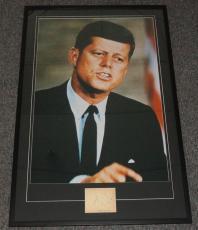 John F Kennedy JFK Signed Framed 29x44 Photo Poster Display JSA Full LOA