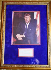 John F Kennedy Jsa Coa Signed Rare 3x5 Index Card Framed Authentic Autograph