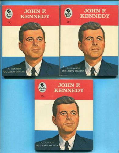 John F. Kennedy Lot of 3 1966 Quiz-Me Series Book Published by Golden Press