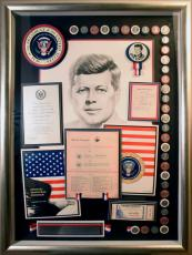 John F. Kennedy Original Signed/Framed Document w/JSA Letter