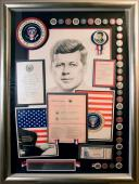 John F. Kennedy Original Signed/Framed Document w/JSA Letter